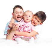 Close-up of happy children in studio Royalty Free Stock Images