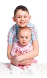 Close-up of happy children in studio Royalty Free Stock Photo