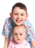 Close-up of happy children in studio Royalty Free Stock Photos