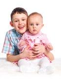 Close-up of happy children in studio Stock Images