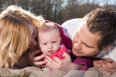 Close up of a happy family Royalty Free Stock Photo