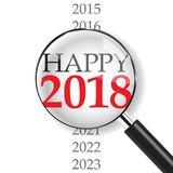 Close-up on Happy 2018. New Year is coming, wish you all the best as always in this coming new year Royalty Free Stock Image