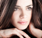 Close up happy pretty young woman posing Stock Image