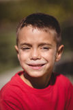 Close-up of happy schoolboy Stock Photography