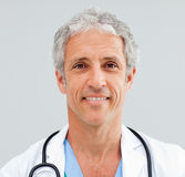 Close up of a happy senior Doctor Royalty Free Stock Photo