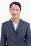 Close up of happy smiling saleswoman Stock Photography