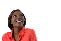 Close up of happy woman looking away Stock Images