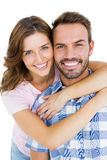 Close-up of happy young couple embracing Royalty Free Stock Photo
