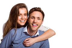 Close up of happy young couple Stock Photo