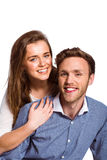 Close up of happy young couple Stock Images