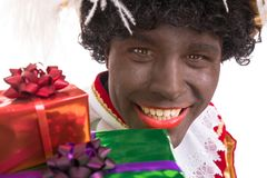 Zwarte Piet or Black Pete with gifts  portrait, Stock Photos