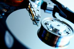 Close up of hard disk . Royalty Free Stock Photos