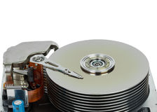 Close up of hard disk Royalty Free Stock Photography