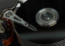 Close up of hard disk Royalty Free Stock Photo