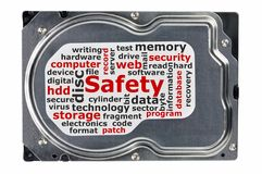 Close-up of a hard disk Royalty Free Stock Images