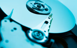 Close up of hard disk with abstract reflection Royalty Free Stock Photos