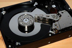 Close up of hard disk Stock Images