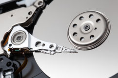 Close up of hard disk Royalty Free Stock Image