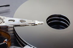 Close up of hard disk Royalty Free Stock Image