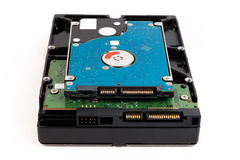 Close up of hard disk's internal and external mechanism hardware Stock Photography