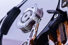 Close Up Hard Disk Royalty Free Stock Photos