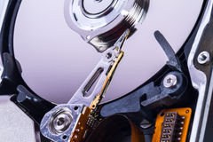 Close Up Hard Disk Stock Images