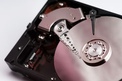 Close up hard drive device Stock Image
