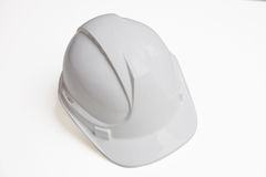 Close-up of hard hat over white background Stock Image