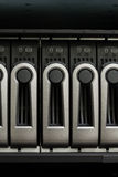 Harddisk rack and computer control Royalty Free Stock Image