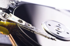 Close-Up of Harddrive/Harddisc. Macro-Picture of an open Harddisc royalty free stock photography