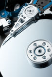 Close up of hardisk's internal mechanism Stock Photography