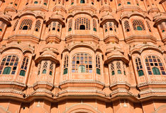 Close up of Hawa Mahal in Jaipur, India Royalty Free Stock Images