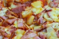 Close up of hawaiian pizza Royalty Free Stock Photo