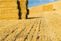 Close up of hay bales Royalty Free Stock Photography
