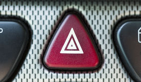Close up of hazard button in a car Stock Photography