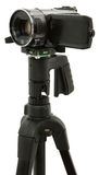 Close Up Of HD Camcorder On Tripod Stock Photo