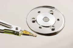 Close-up of HDD surface Royalty Free Stock Photos