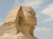 Close up of the sphinx at giza near cairo, egypt royalty free stock photo