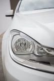 A Close up on a headlight Stock Photos