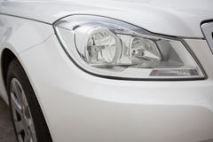 A Close up on a headlight Stock Image