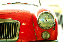 Close Up of Headlight Lamp Vintage Classic Car. Royalty Free Stock Photography