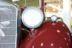 Close Up of Headlight Lamp Vintage Classic Car. Royalty Free Stock Photo