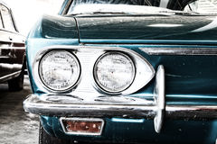 Close Up of Headlight Lamp Vintage Classic Car. Royalty Free Stock Images