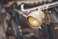 Close up headlight of old vintage bicycle Royalty Free Stock Photography
