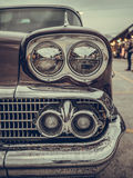 Close-up of headlight and turn signal classic car, have more dir Royalty Free Stock Images
