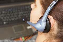 Close up headphone Royalty Free Stock Images