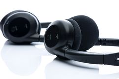 Close up headphones bluetooth. Close up headphones nbluetooth on white background Stock Images