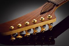 Headstock of electric guitar Stock Images