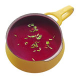 Close up Healthy Beetroot Soup in the Pot Stock Photography