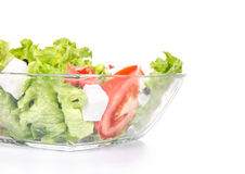 Close-up healthy food - green salat Stock Photos